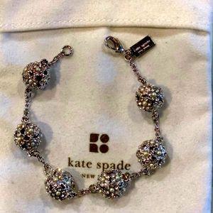 Kate Spade crystal/pearl silver bracelet